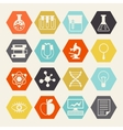 Science icons in flat design style vector image