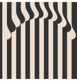 Waved Stripes Vintage Style Background Cover vector image