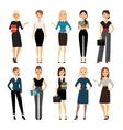 Women in office clothes vector image