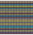 Knit Seamless Multicolor Striped Pattern vector image vector image