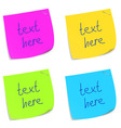 set of sticky memo notes vector image