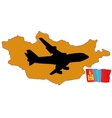 fly me to the Mongolia vector image vector image