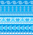Decorative greek borders vector image vector image