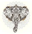 Vintage mandala elephant with tribal orname vector image