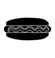 hot dog fast food vector image