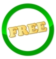 New free icon vector image
