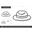 tourist hat line icon vector image