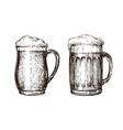 Hand drawn beer mug Elements for design menu vector image