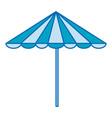 beach umbrella summer icon vector image