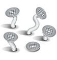 cartoon nails set vector image