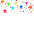 Set party balloons confetti with space for text vector image vector image