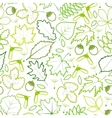 seamless pattern from spring leaves vector image vector image