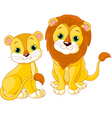 lion couple vector image