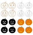 Halloween pumpkins Jack O Lantern set vector image vector image