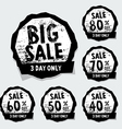 Big Sale stamps with badge and label vector image