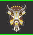 bull geometry vector image