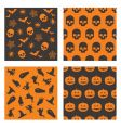 Halloween patterns vector image