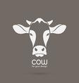 Image of a cow head design vector image