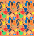 man and woman clothes background pattern vector image