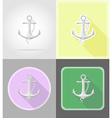 pirate flat icons 06 vector image