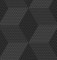 Red 3d cubes with embossed dots seamless pattern vector image