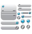 Web elements set icon vector image