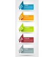 Concept of colorful origami for different business vector image vector image