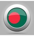 metal button with flag of Bangladesh vector image