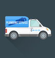 plumbing express service cargo vehicle vector image