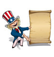Uncle Sam Presenting Declaration vector image