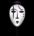 mask of a sad clown vector image