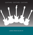Guitars 1238 vector image