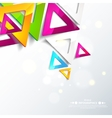 Abstract geometric triangles vector image