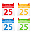 Calendar Pages with 25 December vector image