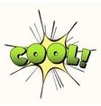 Cool pop art retro style vector image