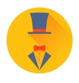 cylinder hat with butterfly icon vector image