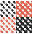 Dot patten set vector image