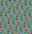 fox and pinecone pattern vector image