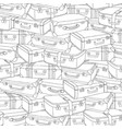 hand drawn stack of old retro suitcases vector image