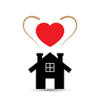 Love Heart House vector image