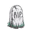 RIP tomb grave stone sketch icon vector image
