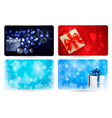 Set of cards with Christmas gift boxes and balls vector image