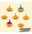 Set of Jack-O-Lanterns set of Halloween vector image