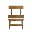 stylish retro seat with back icon vector image
