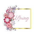 wedding or birthday invitation spring flower vector image