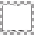 white book icon vector image