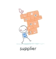 supplier carries goods vector image vector image