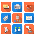 various colorful flat style business distribution vector image