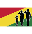 bolivia soldier family salute vector image