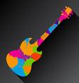 Guitar Splat vector image